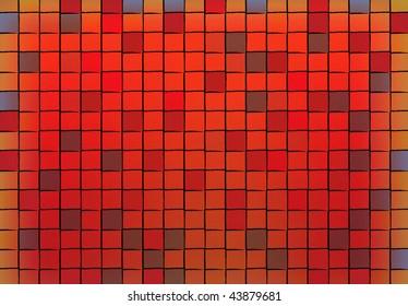 Grunge tile mosaic pattern