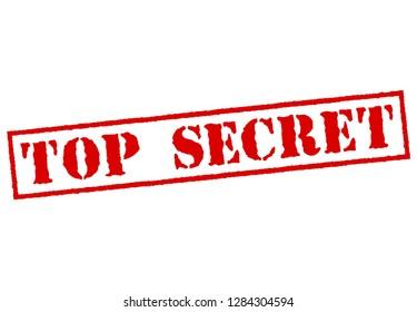 Grunge top secret rubber stamp, vector illustration transparent