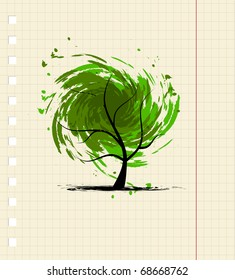 Grunge tree for your design
