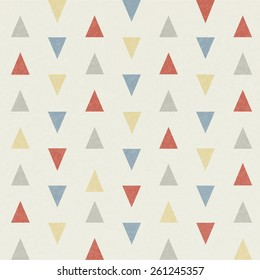 Grunge triangle pattern, vector illustration.