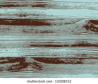 Grunge two colors wooden wall background. Vector illustration.