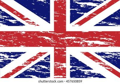 Grunge UK flag.