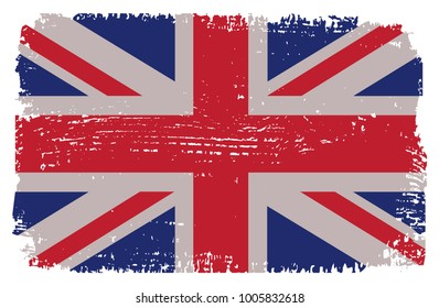 Grunge UK flag. Vector British flag.