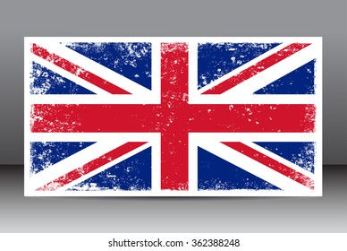 Grunge UK flag.British flag with grunge texture.