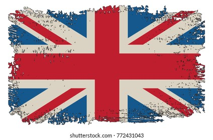 Grunge UK flag.Vector flag of Great Britain.