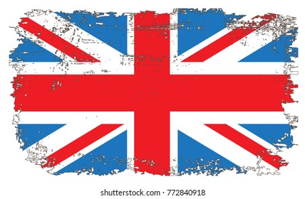 Grunge UK flag.Vintage flag of Great Britain.