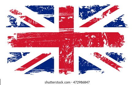 Grunge UK flag.Vintage United Kingdom flag.Vector illustration.