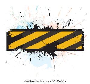grunge under construction for internet web page, vector illustration
