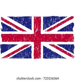 Grunge United Kingdom flag vector easy to use