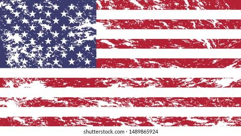 Grunge United States of America Flag.vector EPS.10