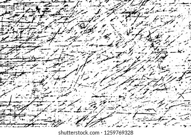 Grunge urban scratched surface with scratches and dirty spots like billet or background. Overlay template for easy and quick creation of dark dirty grunge effect. Vector EPS10 illustration