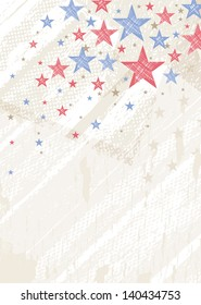 grunge usa background with stars, vector illustration