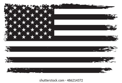 Grunge USA flag.Old American flag.Vector template.