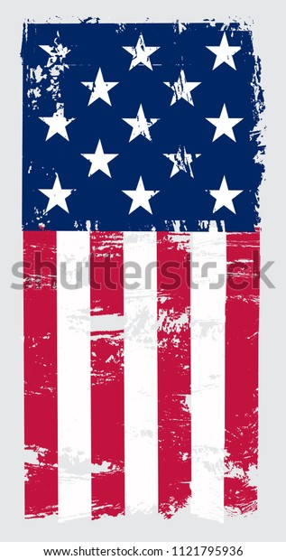 Grunge USA flag. American flag.Vector illustration.