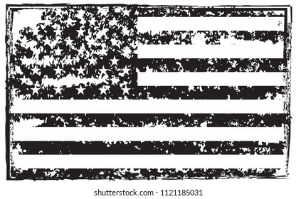 Black And White Distressed Flag Stock Vectors Images Amp Vector Art