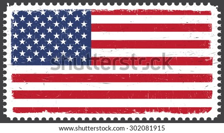580ff2faf9d0 Grunge USA Flag Postage Stamp American Flag Vector Stock Vector ...