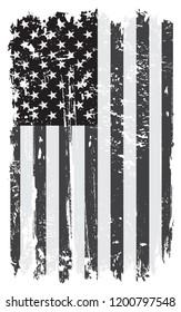 Grunge USA flag.Vector old American flag.