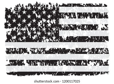 Grunge USA flag.Vintage American flag.Vector Eps 10.