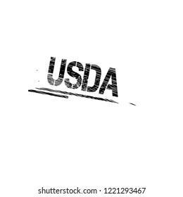 Grunge USDA emblem, label, badge, logo, seal. grunge stamp