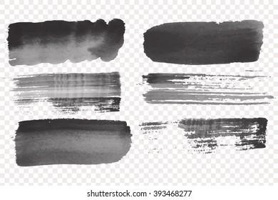 Grunge  Vector Art Brush.  Stroke Collection .