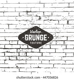 Grunge vector background texture. Brick wall distressed texture.