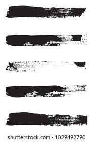 Grunge vector brushes on white background