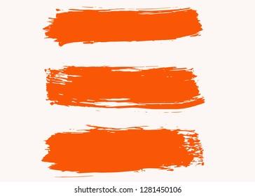 Grunge vector dry brush strokes