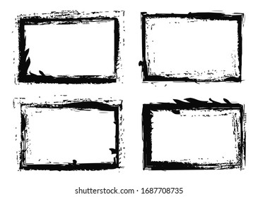Grunge Vector Frames. Grunge Backgrounds. Vintage Design Elements.