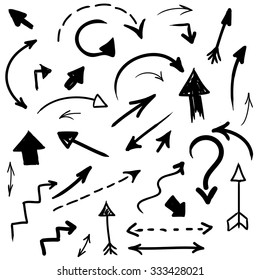 grunge vector hand drawn arrows collection