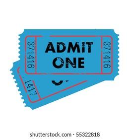 Grunge Vector Tickets