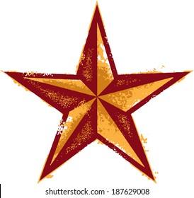 Grunge Vector Western Star Design