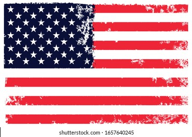grunge vintage american flag background