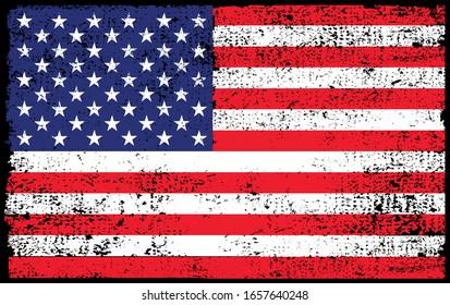 grunge vintage american flag background
