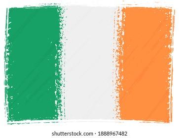 Grunge vintage flag of Ireland.