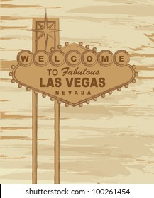 grunge welcome to fabulous las vegas nevada sign. vector