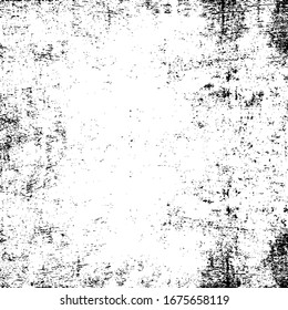 Grunge white and black wall background. Vector illustration.