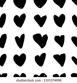 Grunge  White Vector Hearts isolated. Paint clip art collection Form for design