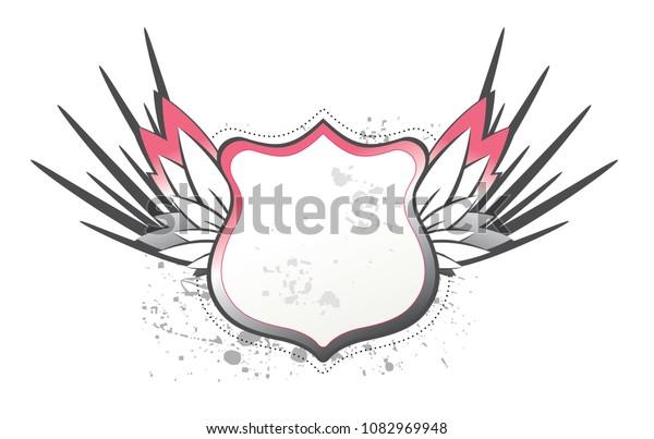 Grunge Wings Shield