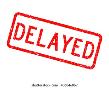 another word for delayed