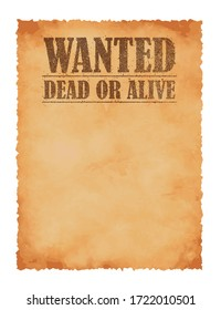 Grunged wanted paper template vector illustration