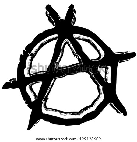 Grungy Anarchy Symbol Stock Vector Royalty Free 129128609