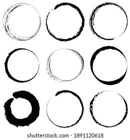Grungy circle blob, blotch vector