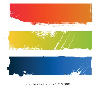 Grungy colored banners ready for your text