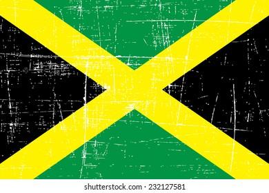 grungy Flag of Jamaica