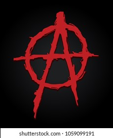 grungy illustration of the anarchy symbol