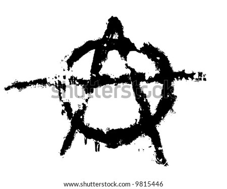Grungy Illustration Anarchy Symbol Stock Vector Royalty Free