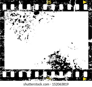 grungy negative film, picture frame