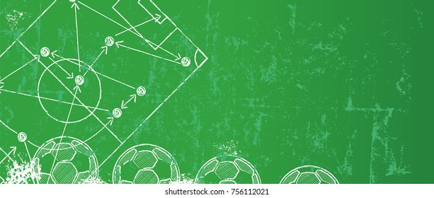 Grungy Soccer / Football design template,free copy space, vector