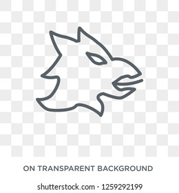 Gryphon icon. Trendy flat vector Gryphon icon on transparent background from Fairy Tale collection. High quality filled Gryphon symbol use for web and mobile