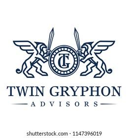 Gryphon Logo Design Inspiration Vector